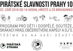 Přijďte na Pirátské slavnosti Prahy 10