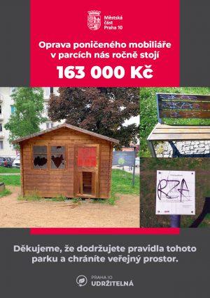 MČ Praha 10 stojí vandalismus vparcích přes 160 tisíc korun ročně